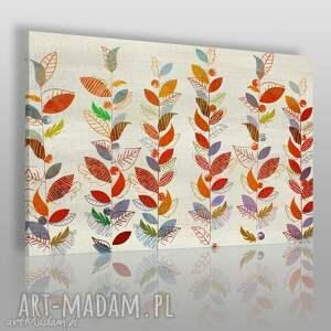 obrazy obraz na płótnie - liście natura kolory 120x80 cm 58401, liście, drzewa