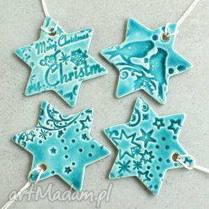 hand-made pomysł na upominek świąteczny śnieżynki