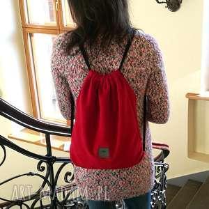 welurowy plecak worek, plecakworek, plecakwelurowy, pomysłnaprezent