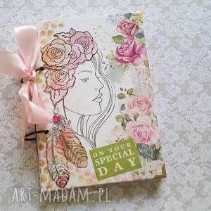 stylowy notes / pamiętnik różany zapach lata, pamiętnik, kwiaty, życzenia