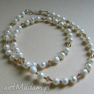 Naszyjniki judithbijoux perły, perła, swarovski,