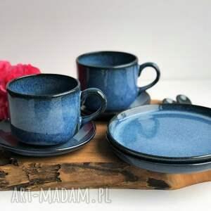 ceramika zestaw ceramiczny dla dwojga - 2 x filiżanka ze spodkiem talerzyk