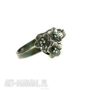 srebrny ręcznie robiony pierścionek helia a734, pierścionek, delikatny