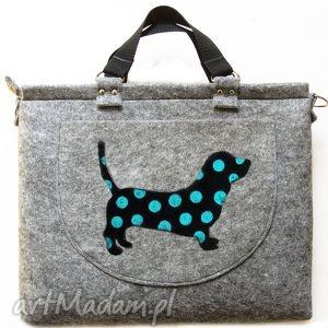 torba na laptopa kolekcja delux part 8, torba, torebka, laptop, pies, filc, filcowa