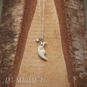 moonspell - naszyjnik z księżycem, księżyc, ksiezyc, kość, kości, moon, ksiezycowy