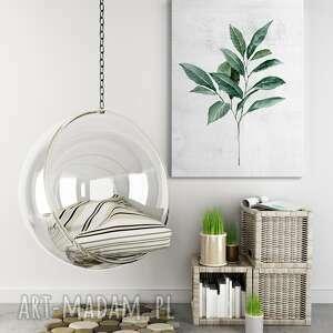 obraz drukowany na płótnie akwarelowa roślinka-liście 40x60cm