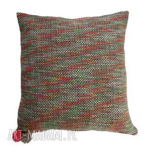 dzianinowa poduszka dekoracyjna z neonową nitką, dzianinowa