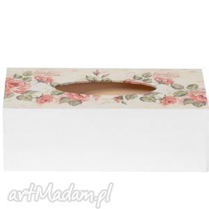 Prezent Chustecznik - pudełko na chusteczki Róże herbaciane , pudełkonachusteczki