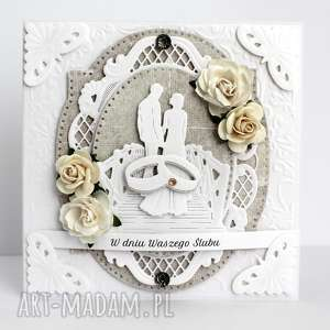 Elegancka kartka ślubna , kartka, ślubna, pamiatka, ślub, johanna, art