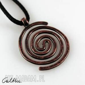 wisiorki spiralny - miedziany wisiorek 2109-23, wisiorek, prosty