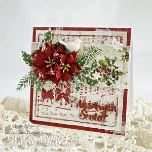 handmade pomysł na upominek na święta kartka świąteczna (w pudełku)