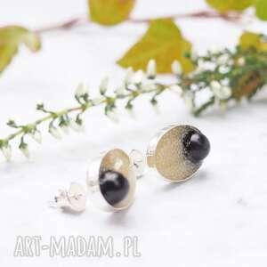 srebrne kolczyki wkrętki z perełkami, srebro, srebrne, wkrętki, perły, perełki