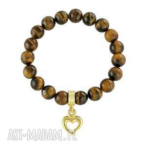 Tiger eye with heart. - ,tygrysie,serce,
