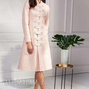 płaszcz cloe, ślubny, elegancki, klasyczny, stylowy, prosty, guziki
