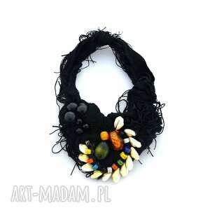 INDIANA naszyjnik handmade, naszyjnik, kolorowy, czarny, boho