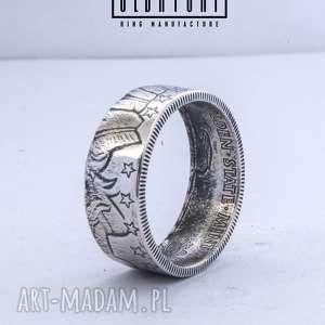 incuse - pierścień z czystego srebra indianin srebro, zaręczynowy, ślubny