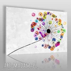 obraz na płótnie - dmuchawiec kolorowy 120x80 cm 73501, dmuchawiec, kwiat, roślina