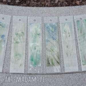 szklane obrazki ręcznie malowane - 6szt, fusing, kwiaty, obrazek, dekoracja