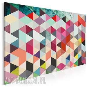 obraz na płótnie - abstrakcja trójkąty 120x80 cm 22901