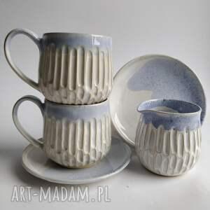 ceramika zestaw składający się z dwóch filiżanek i dzbanuszka 3, filiżanka