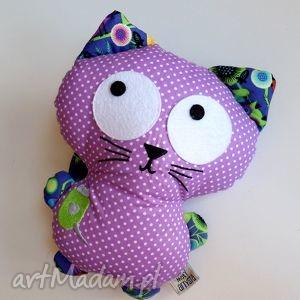 Kicior - fioletowy maskotki maly artysta kot, kotek