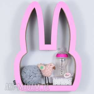 handmade pokoik dziecka półka na książki zabawki królik ecoono | różowy