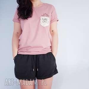t-shirt wild cat S - ,wild,cat,koszulka,t-shirt,kieszonka,kot,