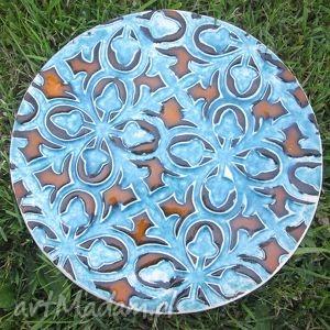 royal, turkusowa, patera, ceramiczna, królewska ceramika