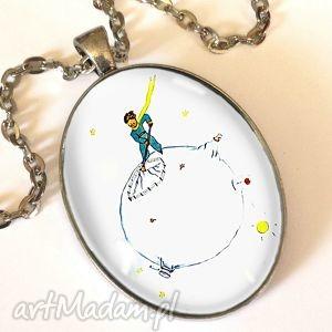 handmade naszyjniki mały książę - owalny medalion z łańcuszkiem