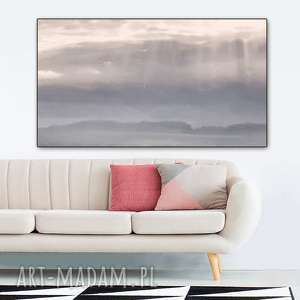 obraz grafika na płótnie, 120 x 70, jezioro, pejzaż, elegancki minimalizm