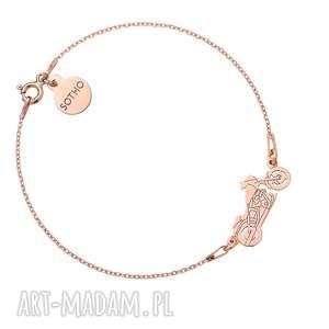 hand made bransoletki bransoletka z różowego złota z motocyklem