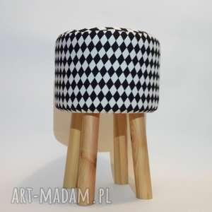 pufa mały arlekin 2 - 45 cm, puf, stołek, taboret, siedzisko, ryczka, hocker