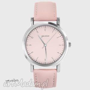 zegarek, bransoletka - simple elegance pudrowy róż, skórzany