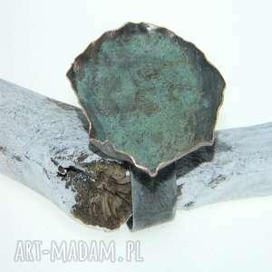 esterka zielony patynowany pierścionek-p3, pierścionek, patynowana
