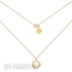 złoty naszyjnik z ozdobną zawieszką - złote naszyjniki