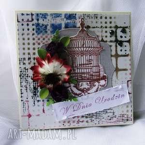 kartka okolicznościowa z okazji urodzin - urodziny, prezent, kartki, scrapbooking