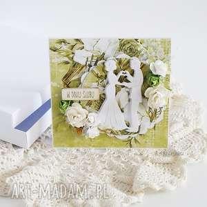 kartka ślubna w pudełku 449, wesele