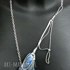 naszyjniki naszyjnik kwiat z lapisem lazuli, kwiat, lapis-lazuli, naszyjnik-kwiat