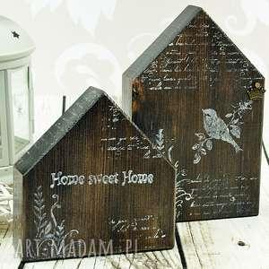drewniane domki- home sweet home, domki, drewniane, drewno, dekoracja, prezent