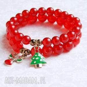 prezent pod choinkę CHOINECZKA II :: świąteczna bransoletka, mikołajki, święta