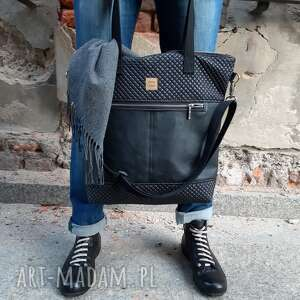 torebka catoo premium #02, czarna torebka, na maiasto, miejska, duza