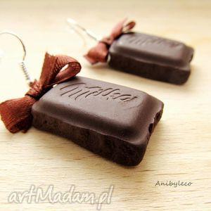 handmade kolczyki kolczyki - mleczne czekoladki