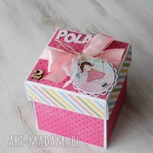 pudełko - kartka na urodziny - dziewczynka, prezent, roczek