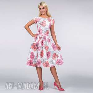 Sukienka marie midi rozetka sukienki livia clue sukienka, midi