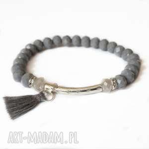 Bransoleta grey, silver cik,