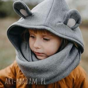 Komin z kapturem dla dziecka - myszka joanka myszka, mysz