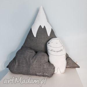 zestaw 3 poduszek - ,poduszki,poduszka,miś,góra,mountain,podusie,