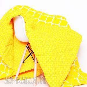 ręcznie zrobione koce i narzuty narzuta fresh yellow 155x205cm od majunto