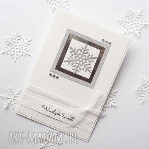hand-made upominek na święta kartka świąteczna - glam