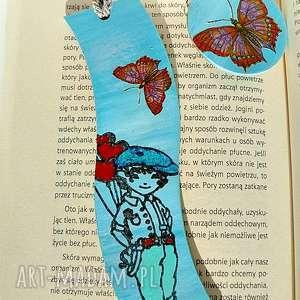 chłopczyk z balonami zakładka do książki w kolekcji